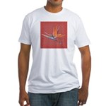 Pink Bird of Paradise Fitted T-shirt