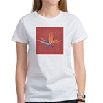 Pink Bird of Paradise Women's T-Shirt
