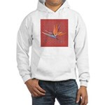 Pink Bird of Paradise Hooded Sweatshirt