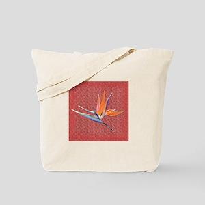 Pink Bird of Paradise Tote Bag