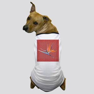 Red Bird of Paradise Dog T-Shirt