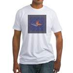 Blue Bird of Paradise Fitted T-shirt