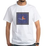 Blue Bird of Paradise White T-Shirt