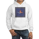 Blue Bird of Paradise Hooded Sweatshirt