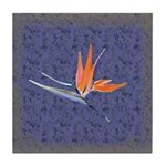Blue Bird of Paradise Tile Coaster
