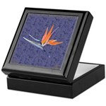 Blue Bird of Paradise Keepsake Box