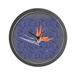 Blue Bird of Paradise Wall Clock
