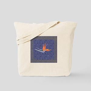 Blue Bird of Paradise Tote Bag