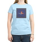 Blue Bird of Paradise Women's Pink T-Shirt