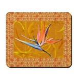 Gold Bird of Paradise Mousepad