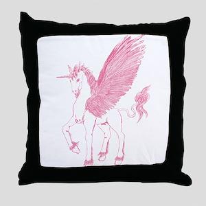 Rose Pink First Alicorn Throw Pillow