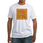 Gold Bird of Paradise Fitted T-shirt