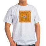 Gold Bird of Paradise AshGrey T-Shirt