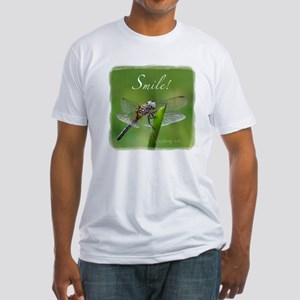 """""""Smile!"""" Dragonfly--  Fitted T-Shirt"""