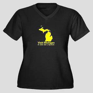 Visit Michigan . . . It Looks Women's Plus Size V-