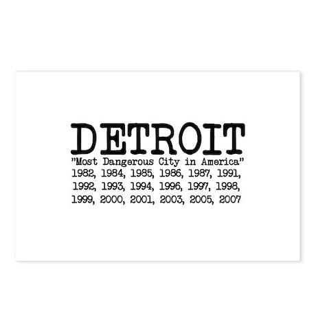 Detroit . . . Most Dangerous Postcards (Package o