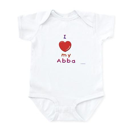 Jewish Kids Love Abba Infant Bodysuit
