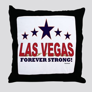 Las Vegas Forever Strong! Throw Pillow