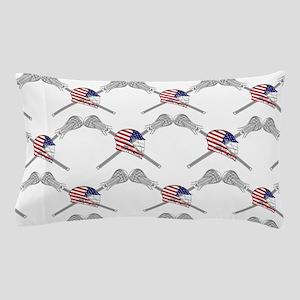 American Flag Lacrosse Helmet Wide Pat Pillow Case