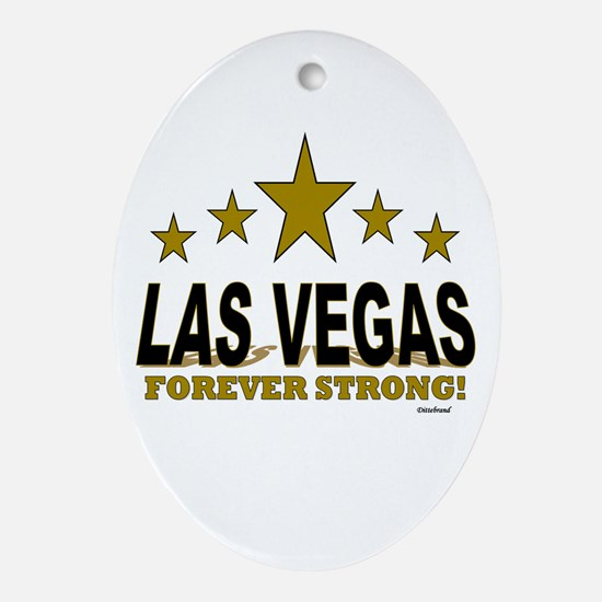 Las Vegas Forever Strong! Oval Ornament