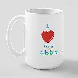 I Love My Abba Large Mug