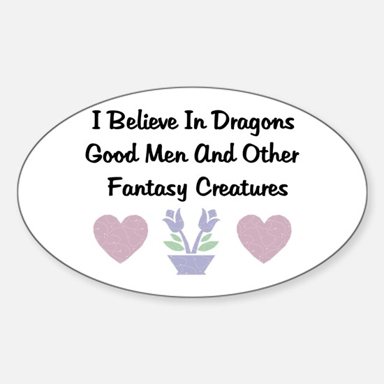 Fantasy Creatures Oval Decal