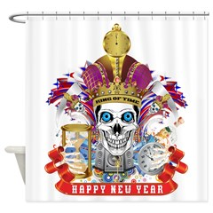 Happy New Year 1 Shower Curtain
