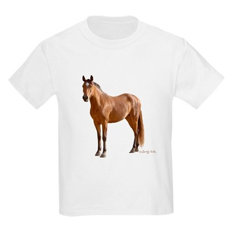 Lone Horse-- Kids Light T-Shirt