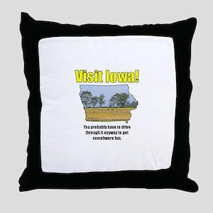 Visit Iowa . . . You Probably Throw Pillow