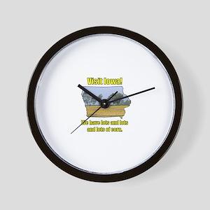 Visit Iowa . . . We Have Lots Wall Clock
