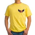 God Bless America Heart Flag Yellow T-Shirt