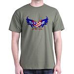 God Bless America Heart Flag Dark T-Shirt