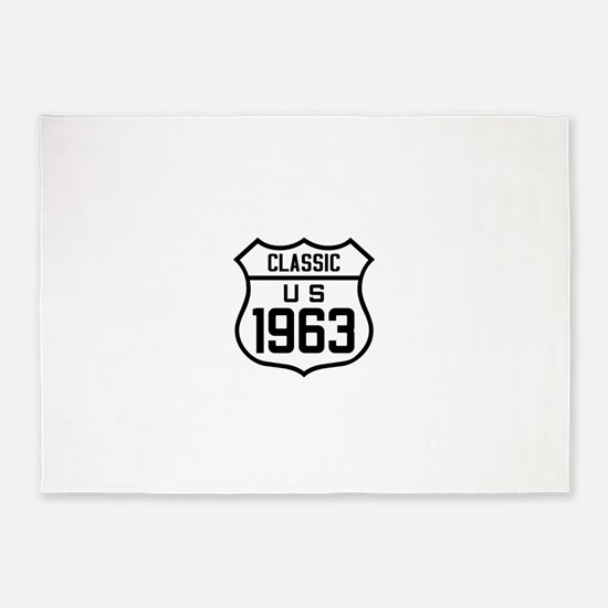 Classic US 1963 5'x7'Area Rug