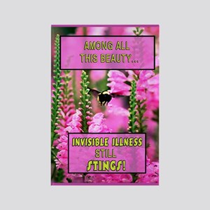 Invisible Illness Stings Rectangle Magnet