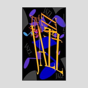 Jazz Jazz Jazz Rectangle Sticker