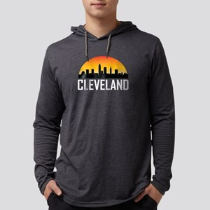 Sunset Skyline of Cleveland OH Long Sleeve T-Shirt