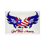 God Bless America Heart Flag2 Rectangle Magnet