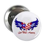 God Bless America Heart Flag2 Button