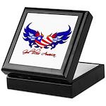 God Bless America Heart Flag2 Keepsake Box