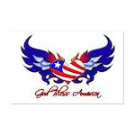 God Bless America Heart Flag2  Mini Poster Print
