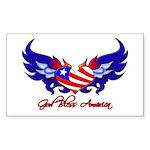 God Bless America Heart Flag2 Sticker (Rectangula