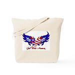 God Bless America Heart Flag2  Tote Bag