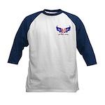 God Bless America Heart Flag2 Kids Baseball Jerse