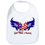 God Bless America Heart Flag2 Bib