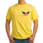 God Bless America Heart Flag2 Yellow T-Shirt