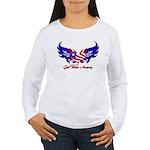 God Bless America Heart Flag2 Women's Long Sleeve