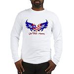 God Bless America Heart Flag2 Long Sleeve T-Shirt