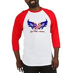 God Bless America Heart Flag2 Baseball Jersey