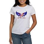 God Bless America Heart Flag2 Women's T-Shirt