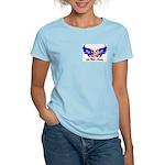 God Bless America Heart Flag2 Women's Light T-Shi